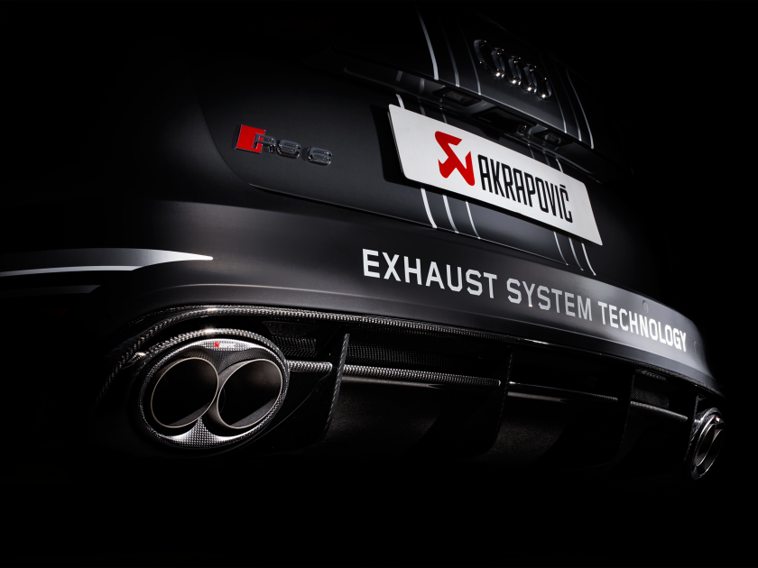 Audi Rs 6 Avant C7 2018 Evolution Line Titanium Akrapovic Car Exhaust
