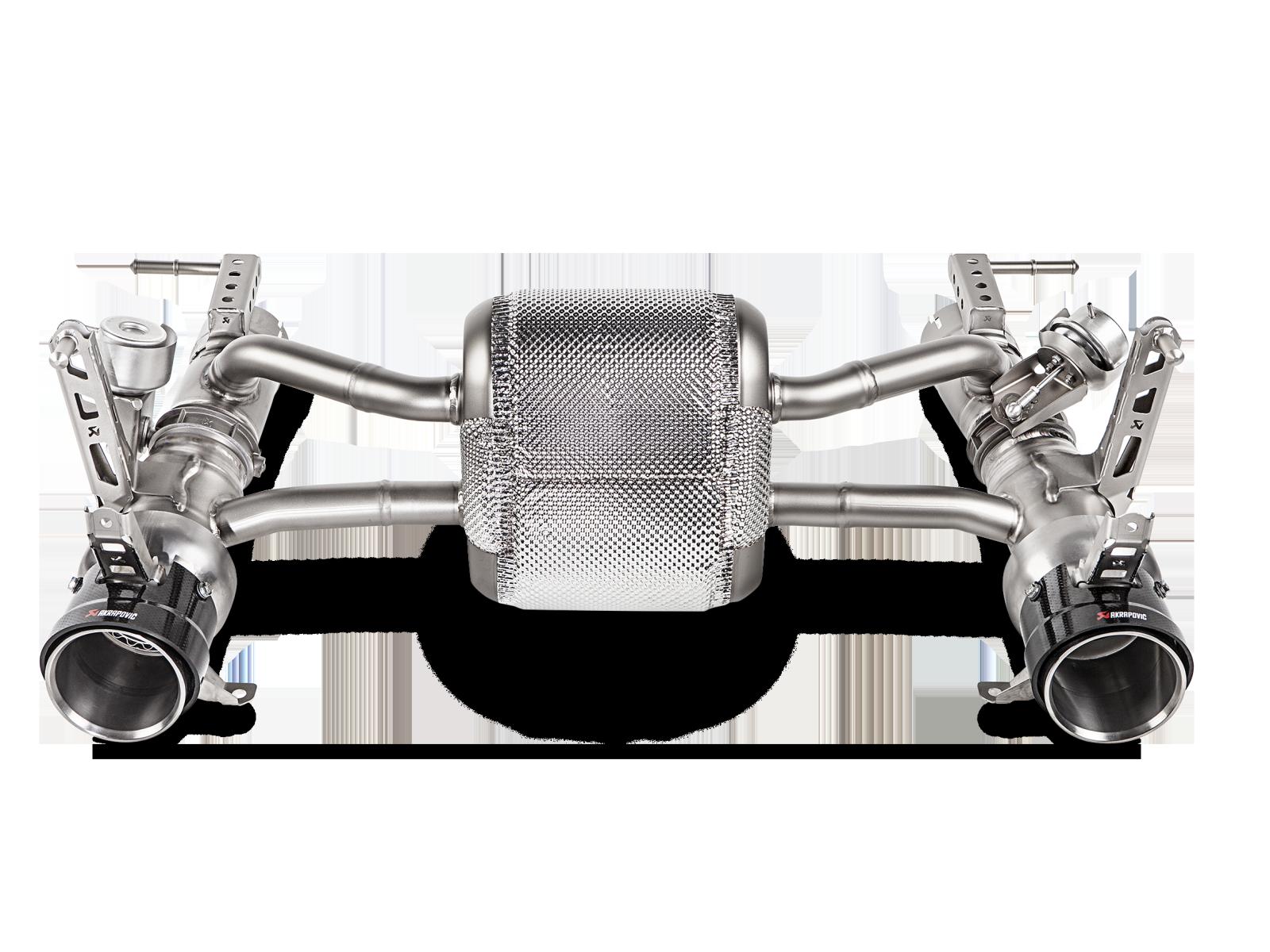 Ferrari 488 Gtb 488 Spider 2018 Slip On Line Titanium Akrapovic Car Exhaust