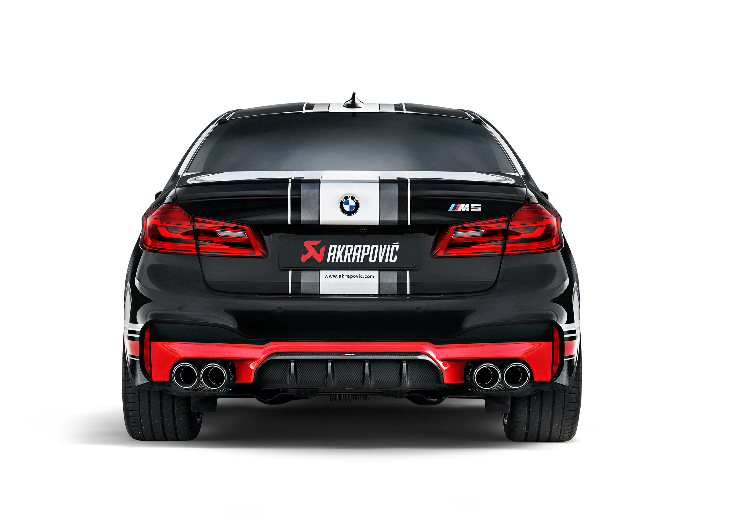 Bmw M5 M5 Competition F90 2020 Evolution Line Titanium Akrapovic Car Exhaust