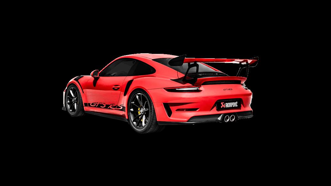 Porsche 911 Gt3 Rs 991 2 2020 Slip On Line Titanium Akrapovic Car Exhaust