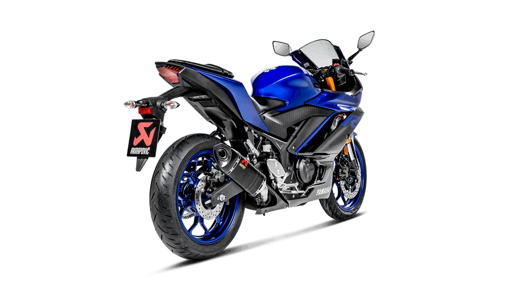 Yamaha YZF-R3 2019 Slip-On Line (Carbon) - Akrapovič Motorcycle ...