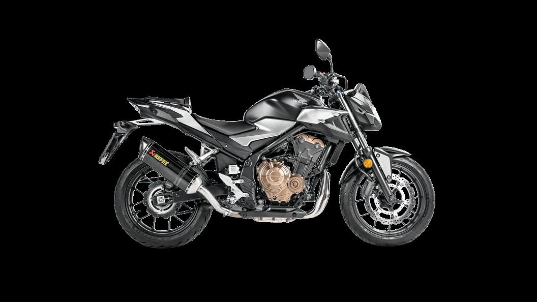 Honda CB 500 F 2019 Slip-On Line (Carbon) - Akrapovič Motorcycle Exhaust