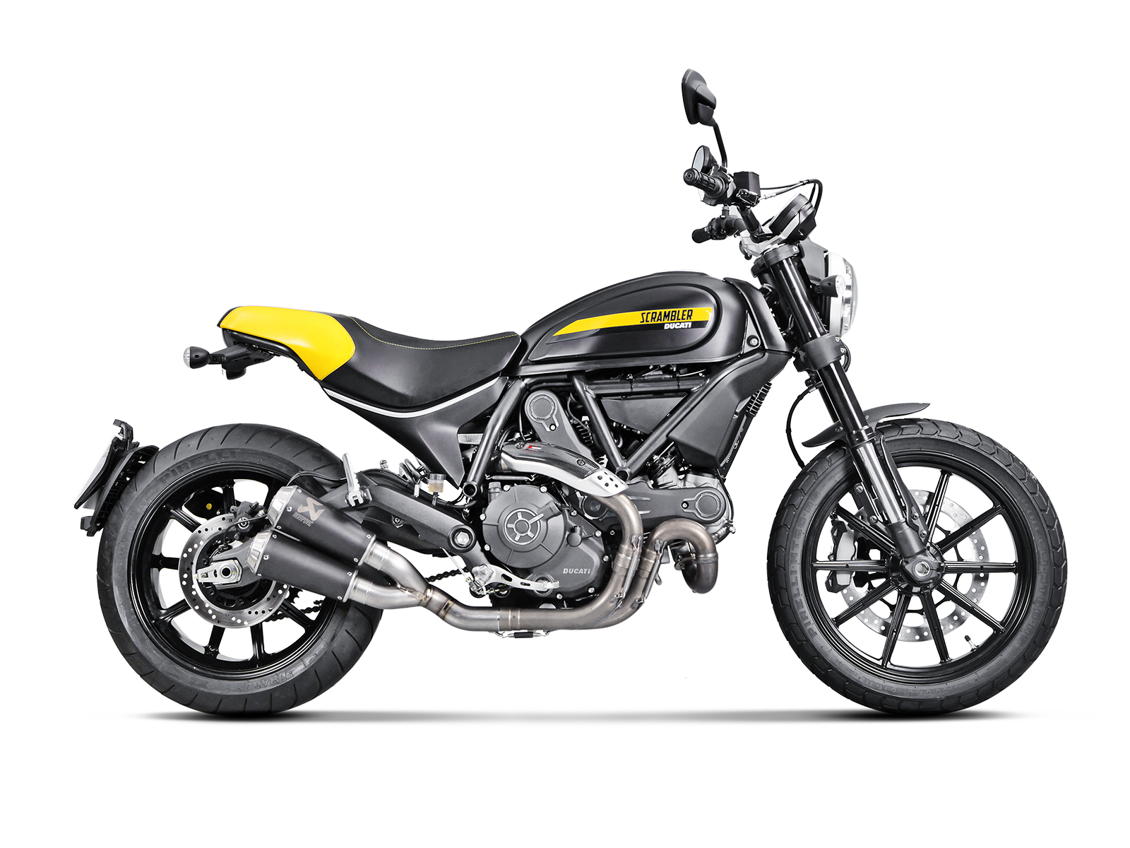 Ducati Scrambler Cafe Racer 2020 Slip On Line Titanium Akrapovic Motorcycle Exhaust