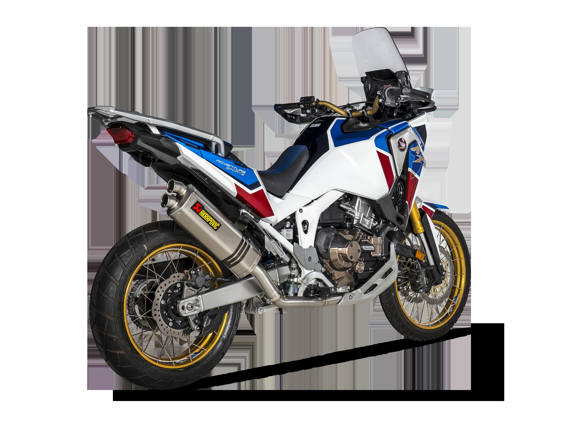 Honda Crf1100l Africa Twin Adventure Sports 2020 Racing Line Titanium For Adventure Sports Akrapovic Motorcycle Exhaust