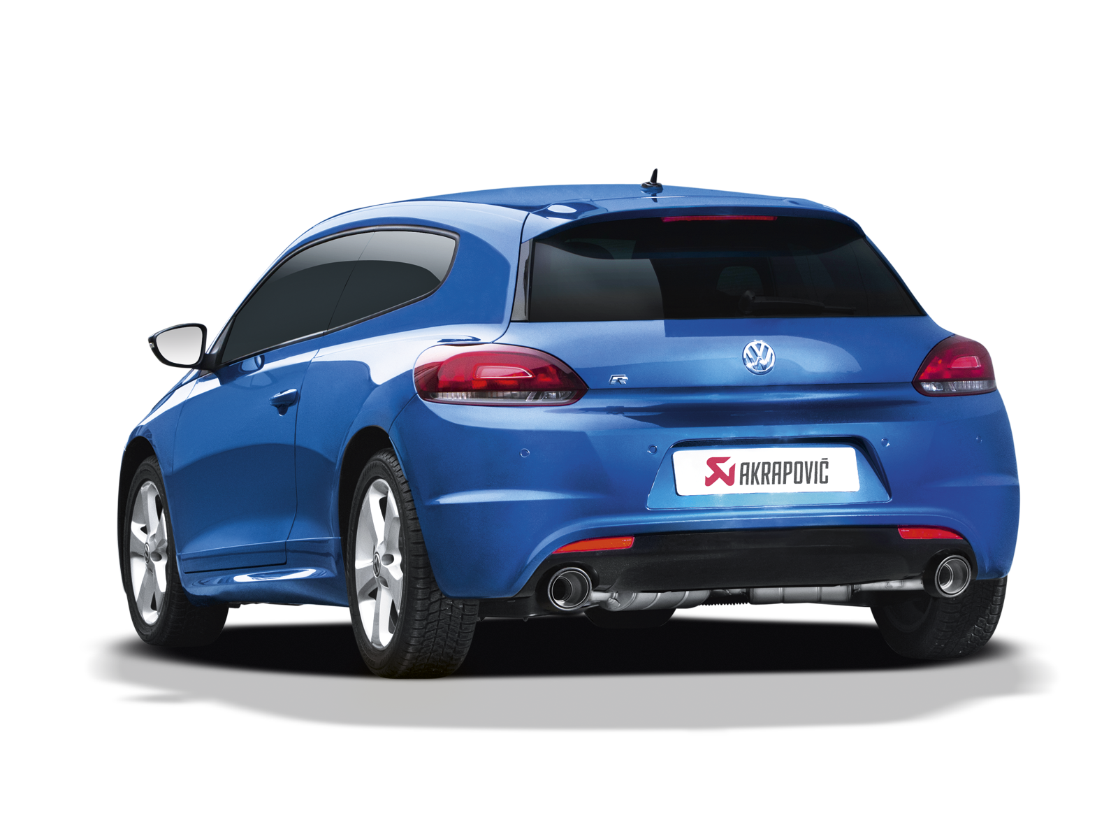 Volkswagen Scirocco R 2016 Slip On Line Ss Akrapovic Car Exhaust